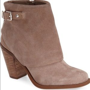 Jessica Simpson Taupe Suede Cassley Booties
